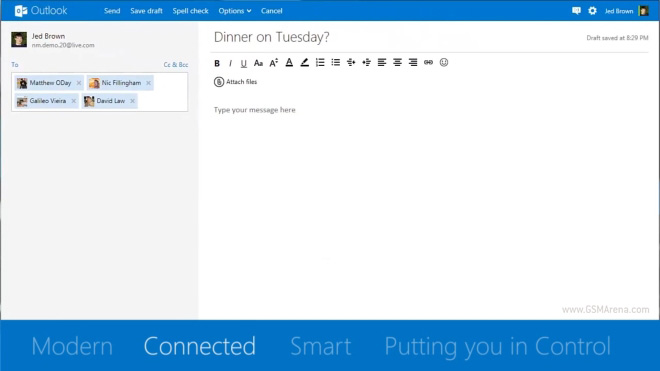 how to add contacts on hotmail app